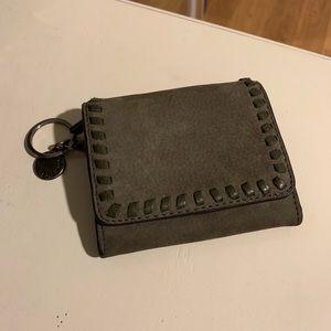 Rebecca minkoff olive green key ring wallet